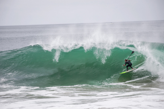This wave is the one that broke this guy's surfboard. It was worth the fun though.