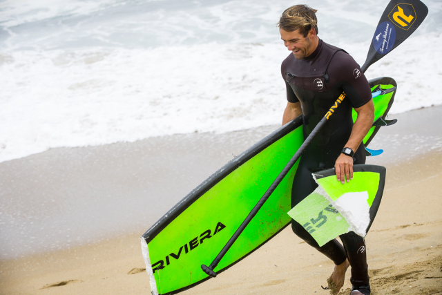 A broken board is a common occurrence at The Wedge.