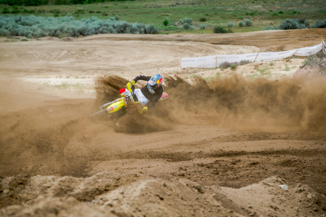 Travis Pastrana putting the new Michelin tires to the test.